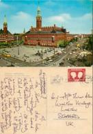Town Hall Square, Copenhagen, Denmark Postcard Posted 1968 Stamp - Denmark