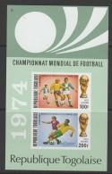 BLOC NEUF DU TOGO - COUPE DU MONDE DE FOOTBALL 1974 N° Y&T 74 - World Cup
