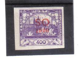BAU1299 TSCHECHOSLOWAKEI OBERSCHLESIEN 1920 MICHL  23 Geprüft GILBERT (*) FALZ Siehe ABBILDUNG - Tschechoslowakei/CSSR