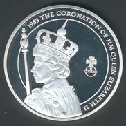 """Großbritannien Große Medaille """"Queen Jubiläum"""" Diamanten Hochtzeit Teils Vergoldet, Mit Stein, D.50,1mm, 52,4g PP - Grande-Bretagne"""