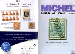 MICHEL Briefmarken Rundschau 11/2016 Neu 6€ New Stamps Of The World Catalogue/magacine Of Germany ISBN 978-3-95402-600-5 - Tedesco