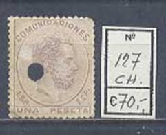 Año 1872 Corona Real, Cifras Y Amadeo Nº127 - 1872-73 Reino: Amadeo I