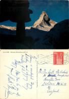Matterhorn, Zermatt, VS Valais, Switzerland Postcard Posted 1964 Stamp - VS Valais