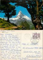 Matterhorn, Zermatt, VS Valais, Switzerland Postcard Posted 1984 Stamp - VS Valais