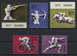 Russia Sowjetunion 1977 Mi# 4642-46 ** MNH Sport Olympische Spiele Olympics 1980 - Sommer 1980: Moskau