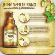 Jelen Pivo  New Beer Coaster From  Apatin Brewery Serbia - Beer Mats