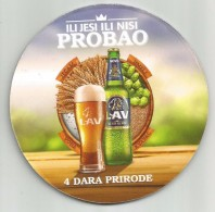 LAV PIVO New Beer Mat From Serbia Carlsberg Serbia Brewery - Beer Mats