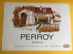 2363 - Suisse Vaud Perroy Dorin - Etiquettes