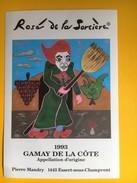 2372 - Suisse Vaud Rosé De La Sorcière Gamay De La Côte 1993 - Etiquettes