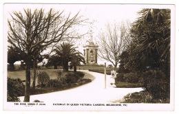 RB 1126 -  Real Photo Postcard - Pathway In Queen Victoria Gardens - Melbourne Australia - Melbourne
