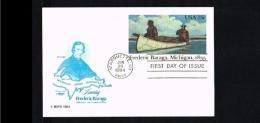 1984 - USA Postal Stationary FDC - Transport - Frederic Baraga - Michigan [HC112] - Postal Stationery