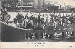 76 - ROUEN  -  MILLENAIRE NORMAND (911-1911) Le Drakar De Rollon - Ed. ELD - Rouen
