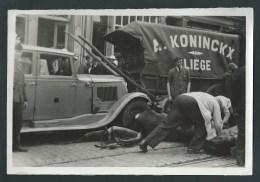 Liège. Rue De Bruxelles. Accident Entre Un Side Car, Une Auto Militaire Et Un Attelage (A. Koninckx)Photo Presse.2 Scans - Lieux