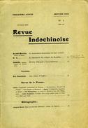 Revue Indochinoise Janvier 1910 - 1900 - 1949