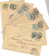6 Cartes De BXL Depart ,Nord 1, Midi , Midi Départ Vers La Hollande - 1893-1907 Coat Of Arms