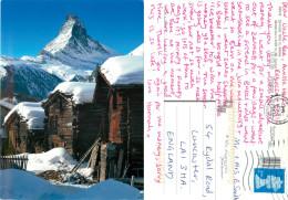 Matterhorn, Zermatt, VS Valais, Switzerland Postcard Posted 2009 Stamp - VS Valais