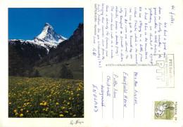 Matterhorn, Zermatt, VS Valais, Switzerland Postcard Posted 1991 Stamp - VS Valais