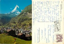 Matterhorn, Zermatt, VS Valais, Switzerland Postcard Posted 1978 Stamp - VS Valais