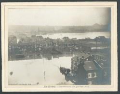 Bressoux. Liège. Inondations  Des Fonderies. Janvier 1926 Photo Originale, J. Dumont. 2 Scans - Lieux