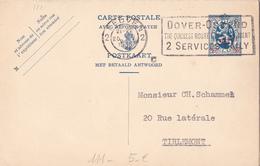 C.P N°111 -   35 Sur 50c Bleu Sur Crème - FR/NL - Avec Carton Réponse - Enteros Postales