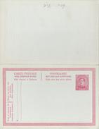 C.P N°60 -   30 +30c Carmin Sur Bleu - Avec Carton Réponse - Entiers Postaux