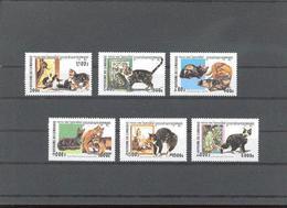 Cambodia Cambodge Yvertnr. 1771-76 *** MNH  Katten, Chats Cats Cote 11 Euro - Cambodge