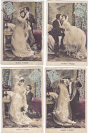BAISERS D'IVRESSE.-  Lot De 6 Cartes De La 1ère Nuit Du Mariage. Série 2020 KF Paris - Matrimonios