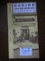 Concert Ticket Davide Van De Sfroos Band, 1999, Switzerland - Entradas A Conciertos