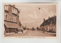 CPSM SAINT AMAND MONTROND (Cher) - Avenue De La Gare - Saint-Amand-Montrond