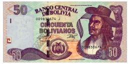 BOLIVIA 50 BOLIVIANOS 1986(2015) SERIES J Pick 235 Unc - Bolivia