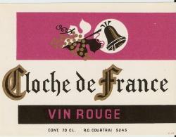 CLOCHE DE FRANCE VIN ROUGE - Etiquettes