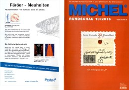 Briefmarken Rundschau MICHEL 10/2016 Neu 6€ New Stamps Of The World Catalogue/magacine Of Germany ISBN 978-3-95402-600-5 - Telefonkarten