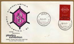 Enveloppe Cover Brief FDC 1111 Europaplastica Ghent Flanders Palais Des Floralies - FDC