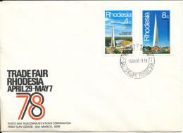 Rhodesia FDC 15-3-1978 Trade Fair 78 Set Of 2 With Cachet - Rhodesia (1964-1980)