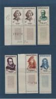 1132-1133-1134-1135-1136 De 1957  - 6 Timbres  Neuf  * -  5 Célèbrités étrangères - Voir Les 2 Scannes - France