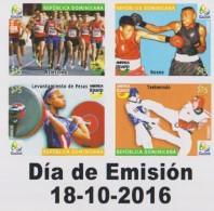 DOMINICAN REP. 2016 - UPAEP - OLYMPICS  RIO-2016 - Repubblica Domenicana