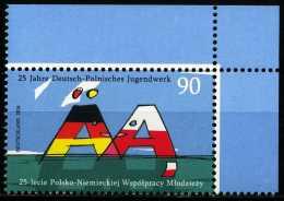 BRD - Michel 3249 ECKE RO - ** Postfrisch (B) - Ausgabe 02.06.2015 - 90C  Jugendwerk Deutschland-Polen - Nuovi