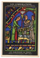 CPA 28 . Les Corporations D'apres Les Vitraux De La Cathedrale De Chartres . Les Marchands De  Tissus - Chartres