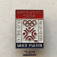Badge (Pin) ZN003684 - Olympic (Olimpique) Flight Lake Placid USA (United States Of America) Sarajevo 1984 - Olympic Games