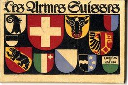LES ARMES SUISSES  LIBERTAS ET PATRIA  -  BOITIRE CONTENANT 23 CARTES ANCIENNES  -  BLASONS DES PROVINCES SUISSE - Suisse