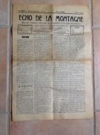 Echo De La Montagne, Le Sépey (Suisse) 9 Mai 1939, Journal Littéraire, Vallée Des Ormonts, Leysin ... - Journaux - Quotidiens