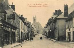 - Allier - Ref - B788 - Le Montet - Grande Rue Et Eglise - Coiffeur - Tailleur - Metiers - Magasin - Magasins- - France
