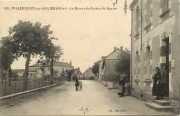 - Allier - Ref - B784 - Villeneuve Sur Allier - Le Bureau De Poste Et Le Quare - Poste - Postes- Carte Bon Etat - - Frankrijk
