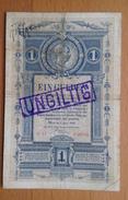 Austria 1 Gulden, UNGULTIG - Austria