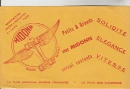 BUVARD PUBLICITAIRE SPORTS JOUETS - Manufacture Patins à Roulette Et à Glace MIDONN Paris - Sports