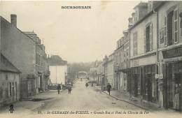 - Allier -ref-B778- Saint Germain Des Fosses - St Germain Des Fosses - Chapellerie - Tabac - Pont Du Chemin De Fer - - Frankrijk