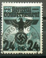 WW II GG Generalgouvernement Mi. 14I Gestempelt - Gesuchter Plattenfehler - Besetzungen 1938-45