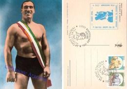 Cartolina Postale Con Annullo Speciale: PRIMO CARNERA - IL GIGANTE DI SEQUALS - Personalità Sportive