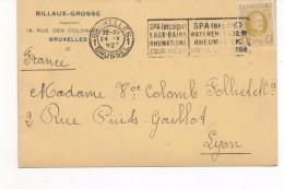 3084   Tarjeta Privada Bruxelles Brussel 1927 Spa, Medicina, Medico, Reumatologia, Bains, Balneario - Bélgica