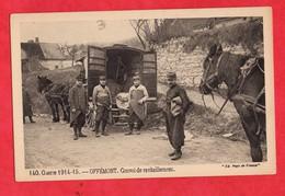 90 Territoire De Belfort Offemont Convoi De Ravitaillement  Guerre 14 18 Militaire - Offemont